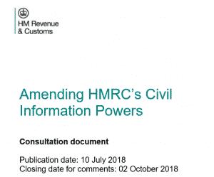 HMRC's Civil Information POwers Proposal