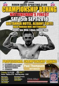 """Paul """"the Meatball"""" Thompson professional boxing debut"""